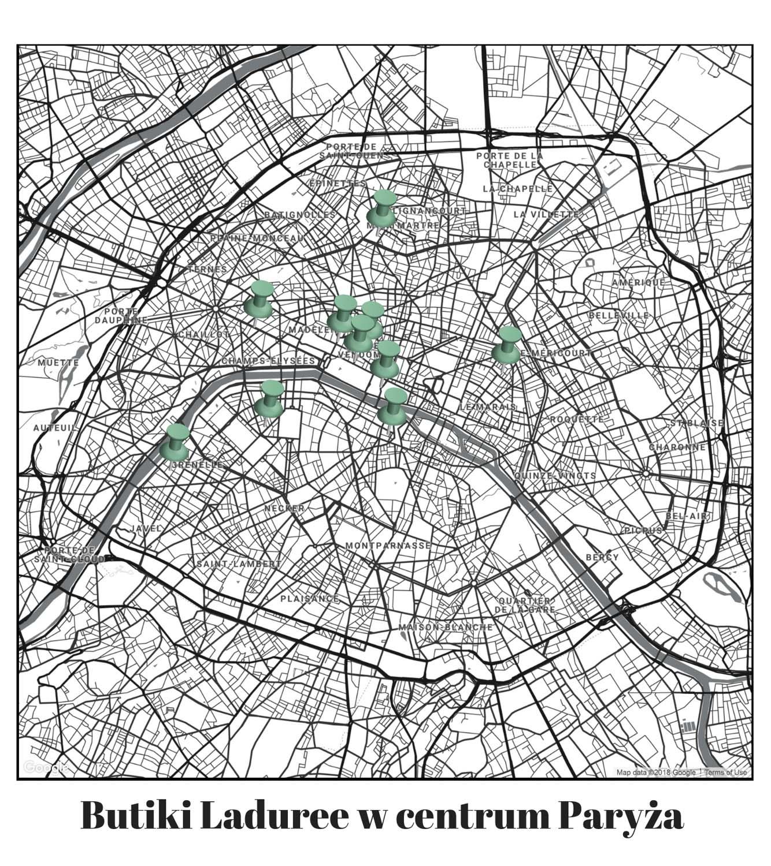 Butiki Makaroników Laduree Paryż
