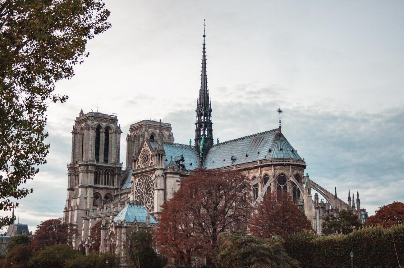 Francja Paryż Katedra Notre-Dame