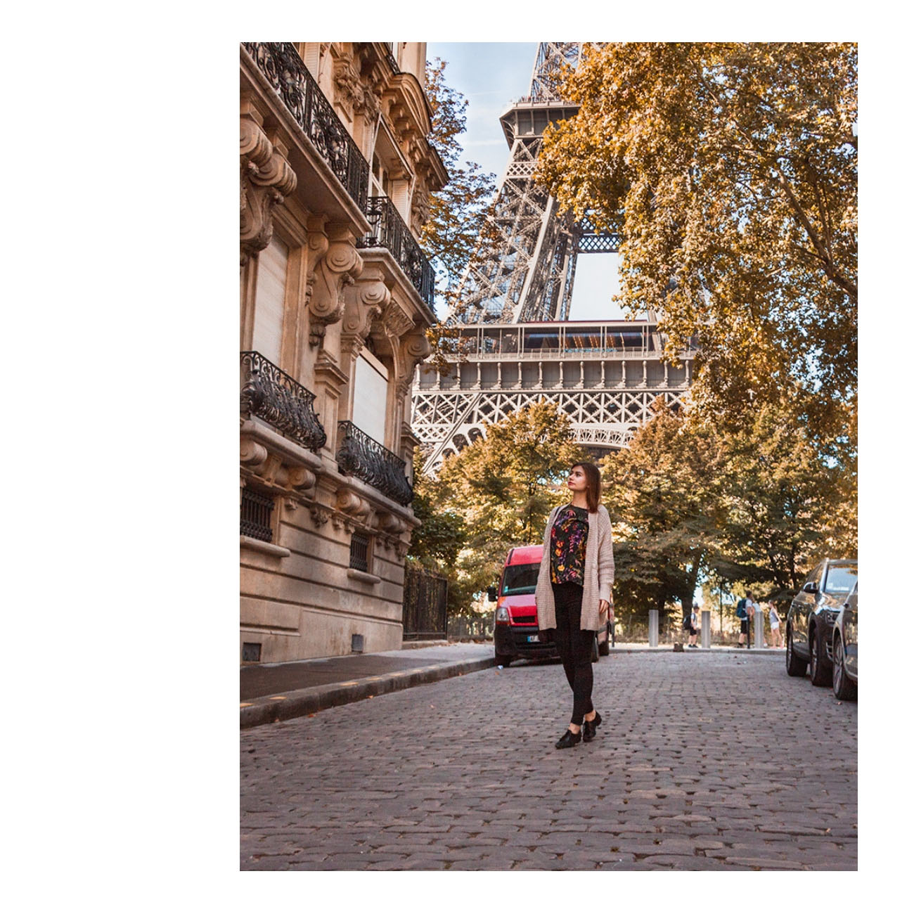 Paryż wieża Eiffela rue de universite