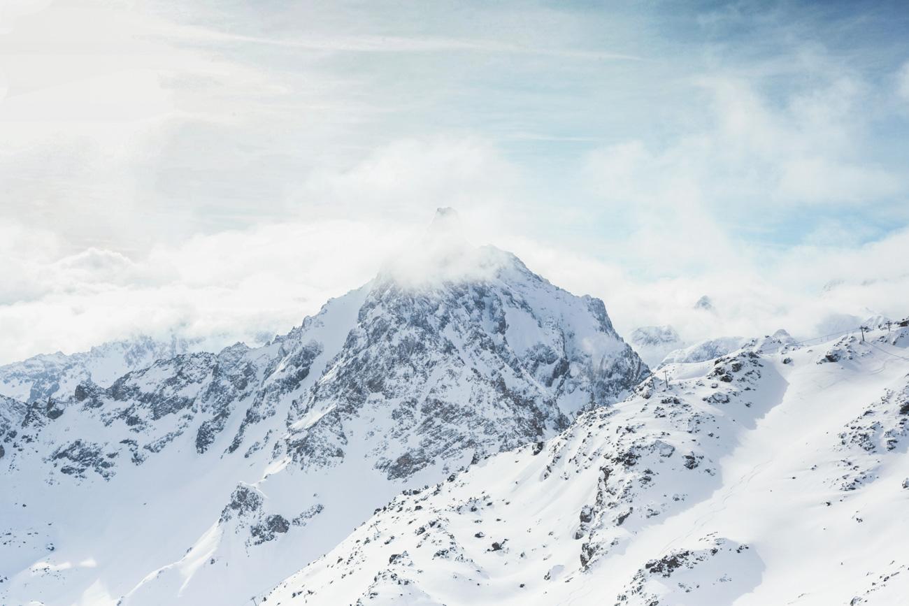 Meribel, góry zimą