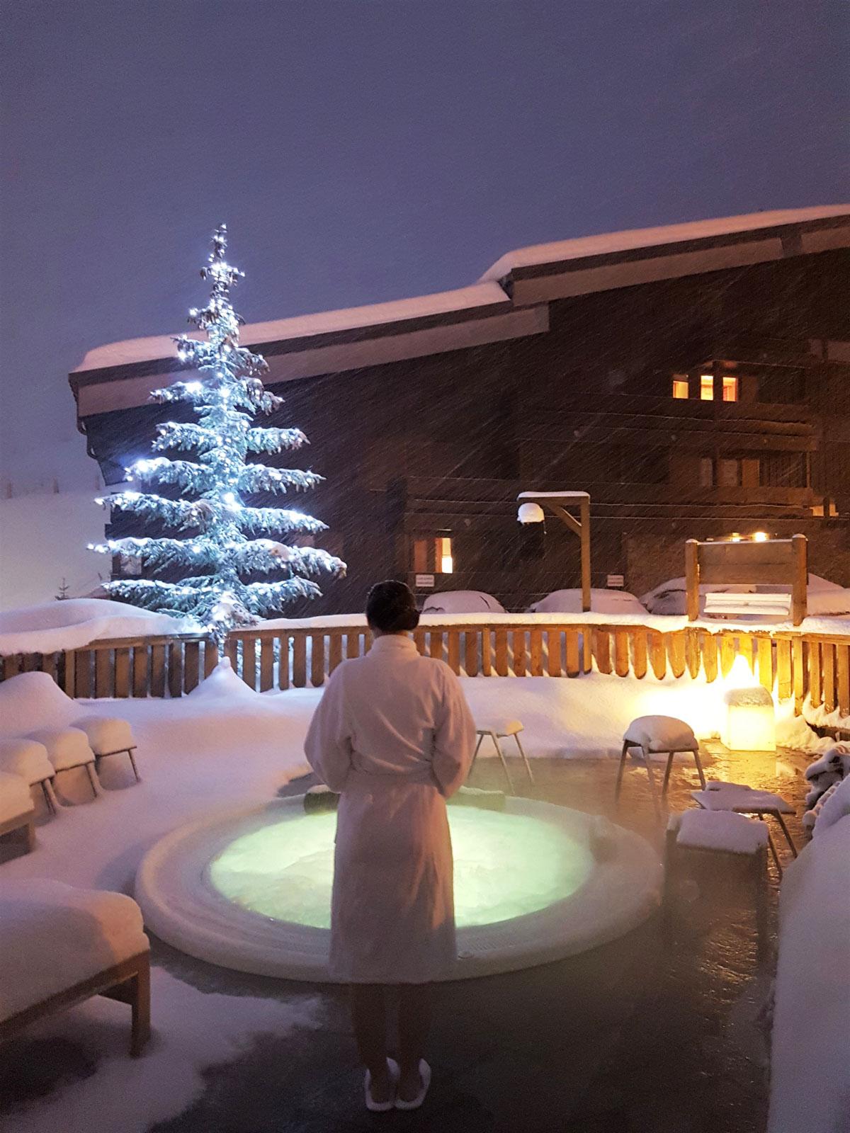 Meribel, hotel Mottaret, jacuzzi
