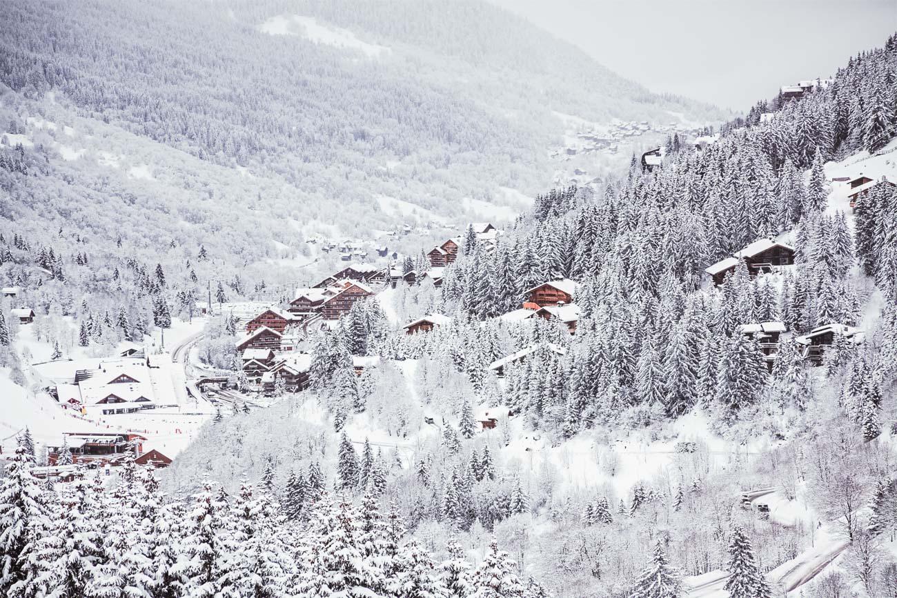 Meribel, zima w Alpach