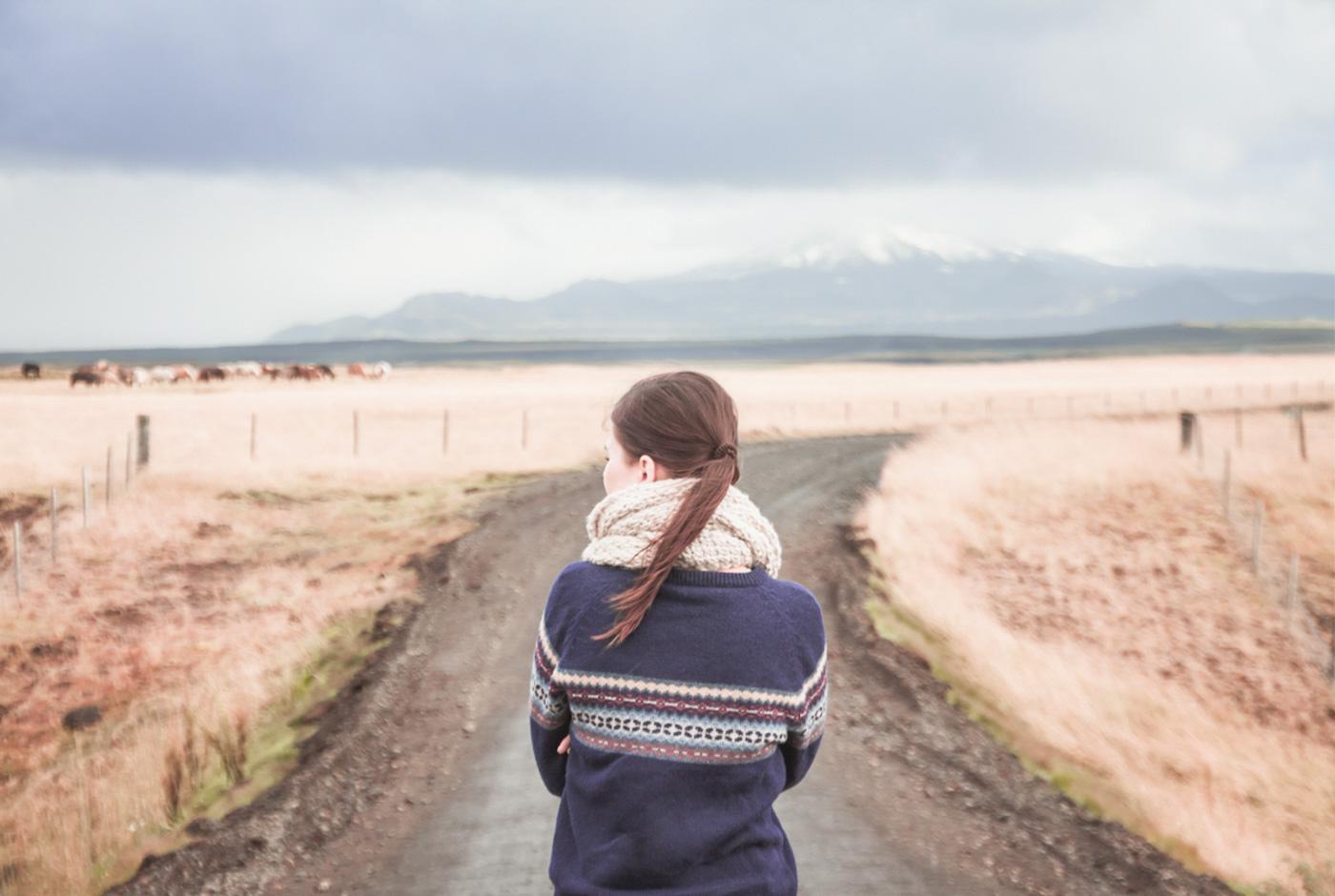Droga offroad na Islandii. Droga szutrowa