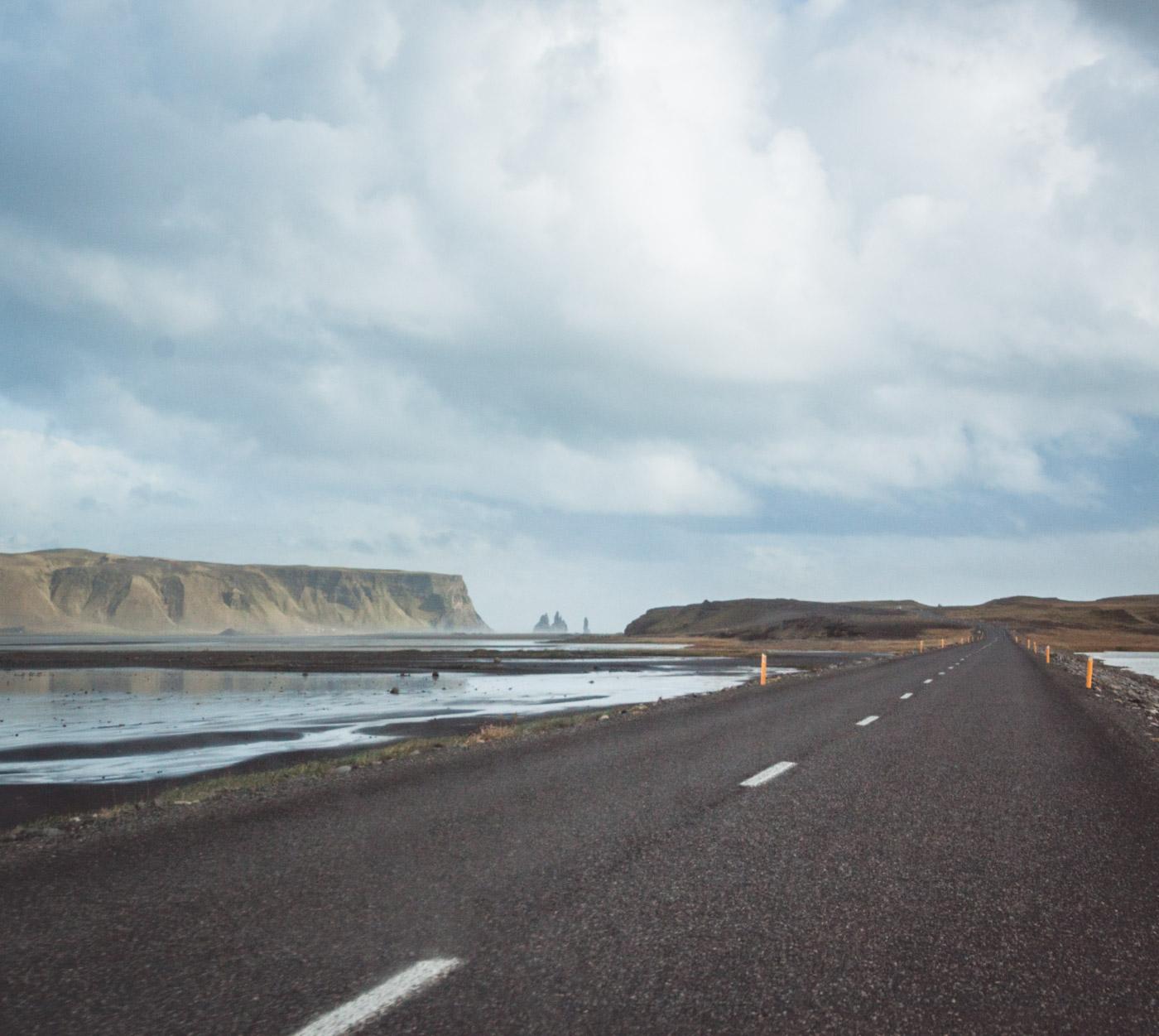 Islandia. Droga w okolicach Vik