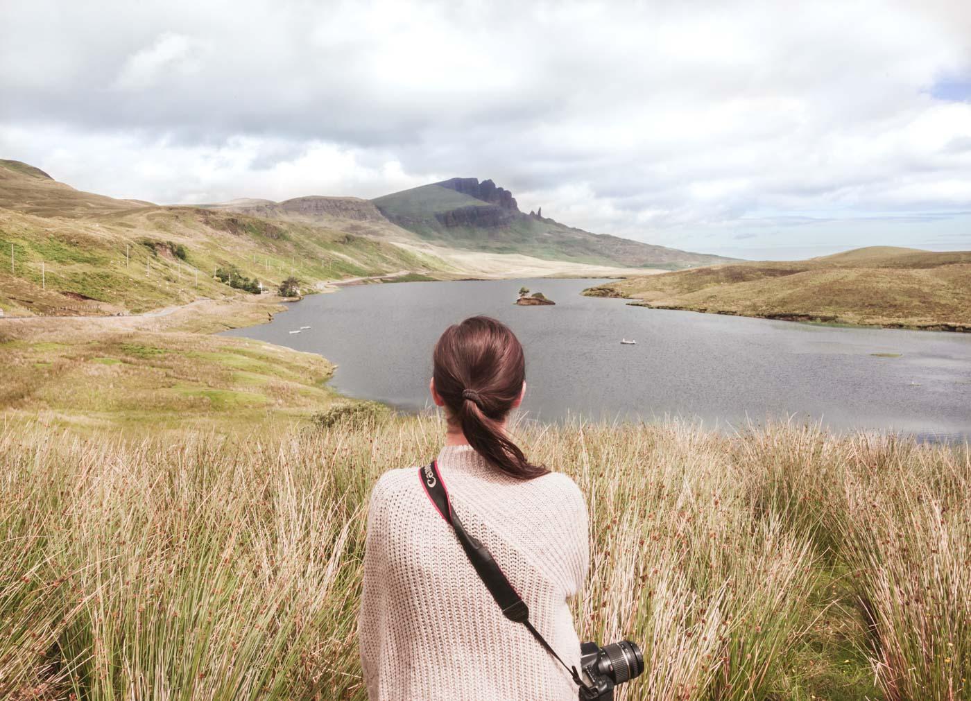 Szkocja, Isle of Skye, widok na Old Man of Storr