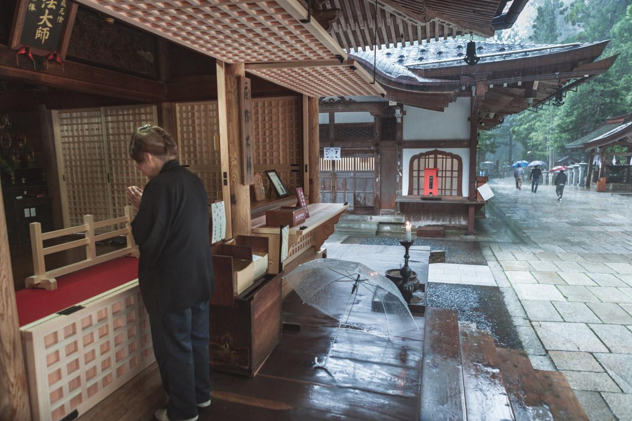 Koya-san, Okunoin, świątynia