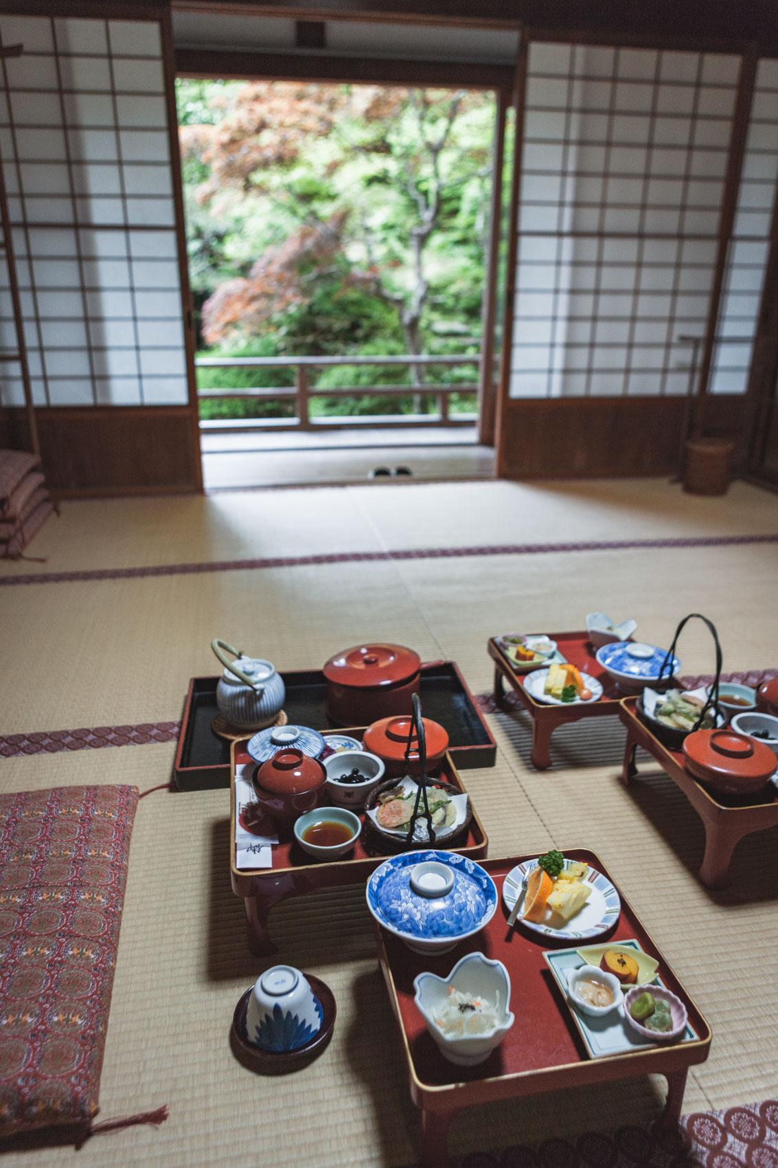 Koya-san, kolacja w Shojoshin-in
