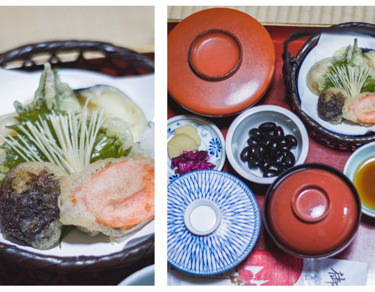 Koya-san, Shojoshin-in, jedzenie
