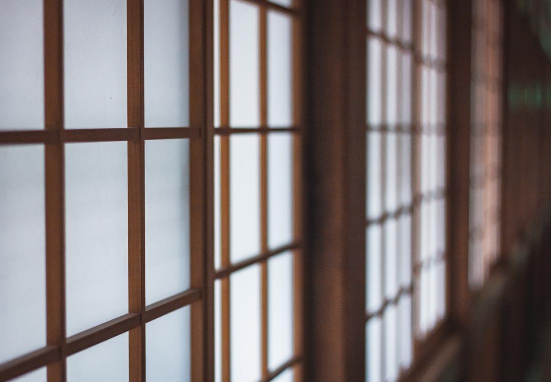 Koya-san, Shojoshin-in, przesuwane drzwi do pokoju
