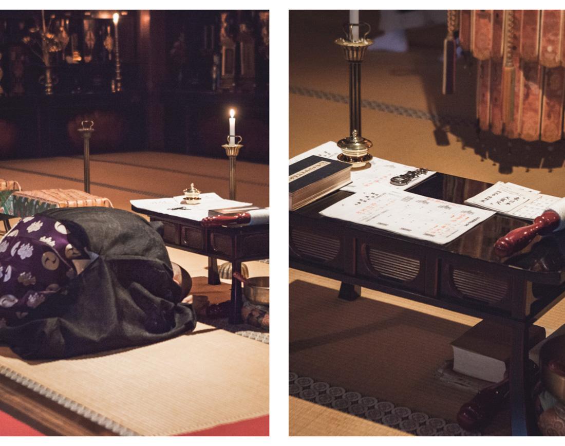 Koya-san, modlitwa mnichów buddyjskich