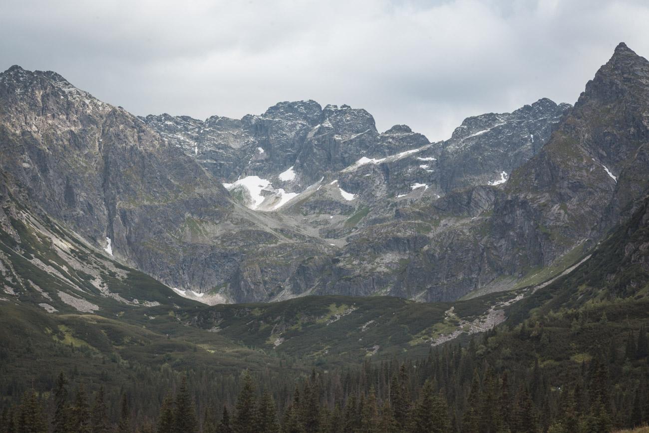Hala Gąsienicowa, widok na góry