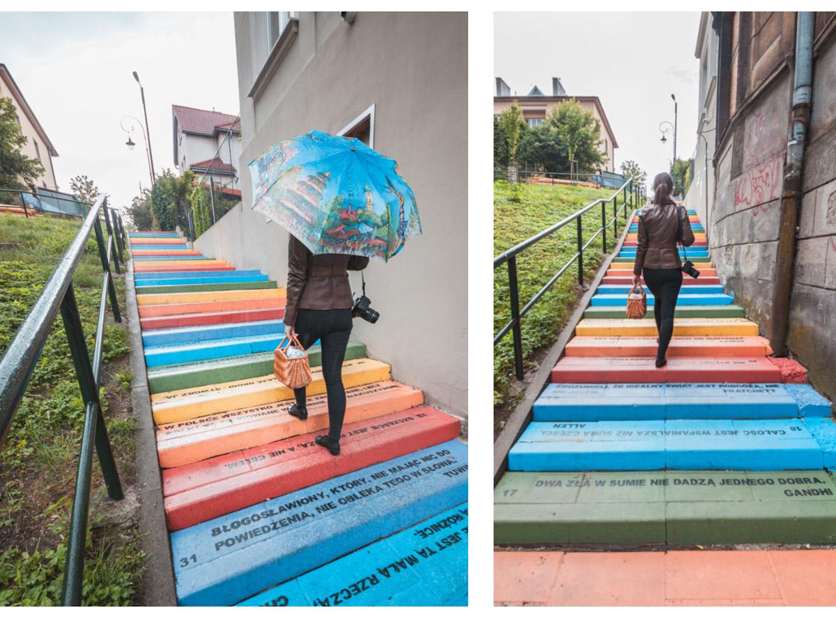 Kraków kolorowe schody