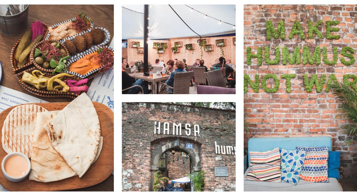 Kraków restauracja Hamsa Kazimierz