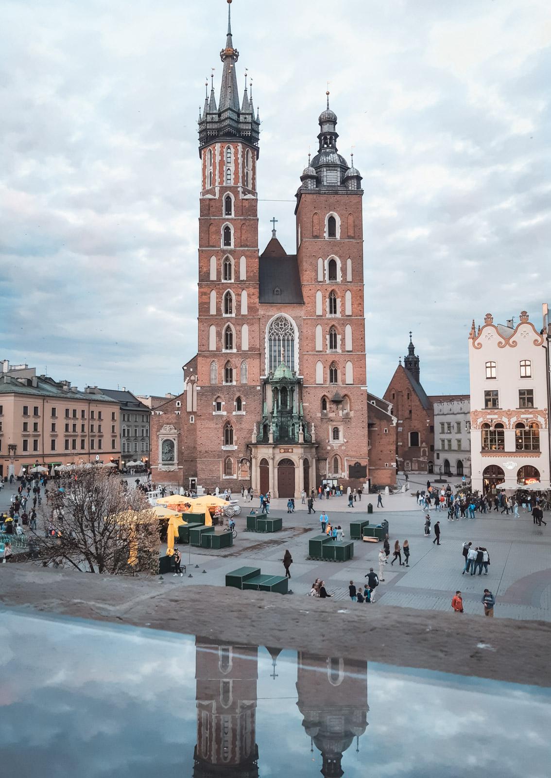 Kraków zachód słońca rynek