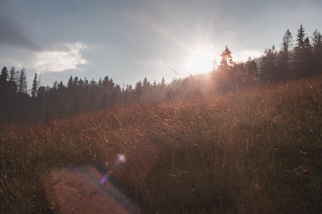 zachód słońca na Gubałówce