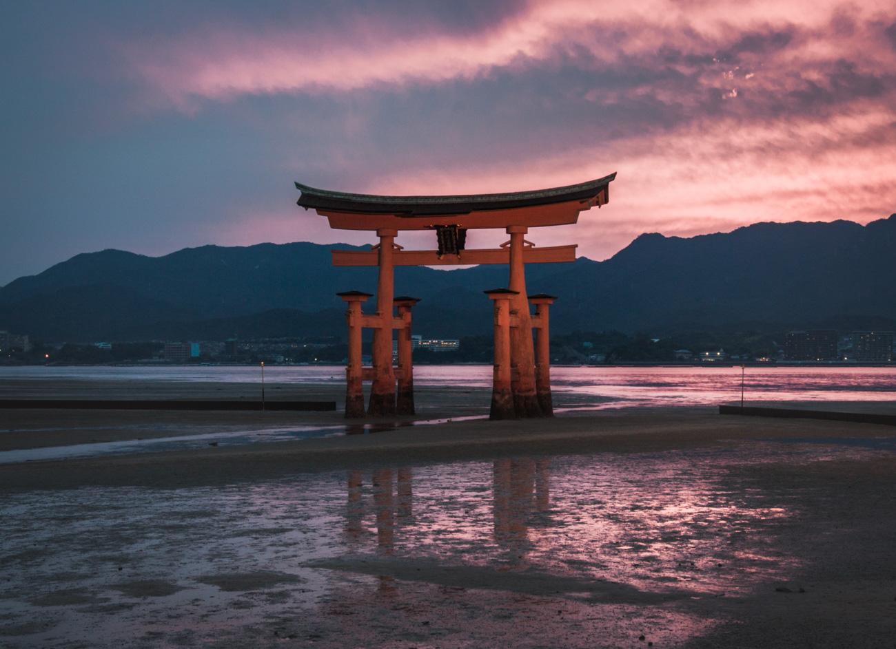 Japonia, Miyajima, brama tori