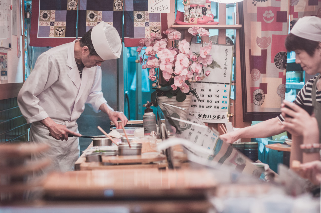 Japonia, restauracja Tsukiji