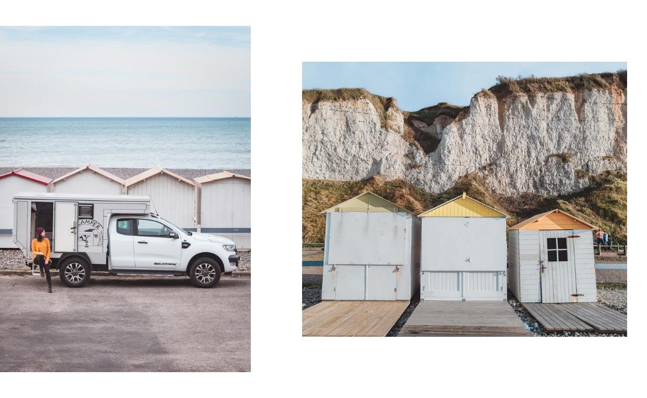 Criel-sur-Mer Normandia kabiny na plaży