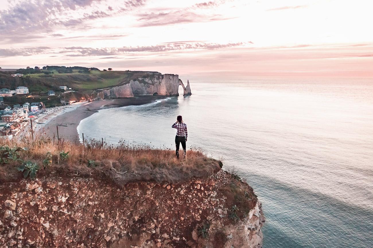 Francja Normandia Etretat