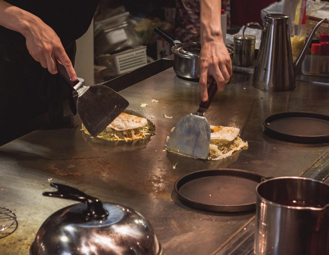 Japonia restauracja okonomiyaki Hiroshima