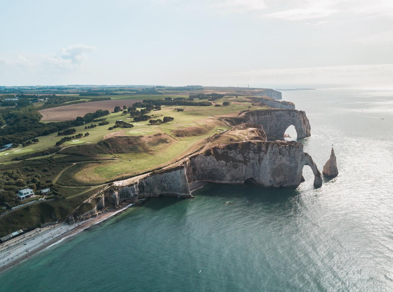 Normandia Francja klify Etretat