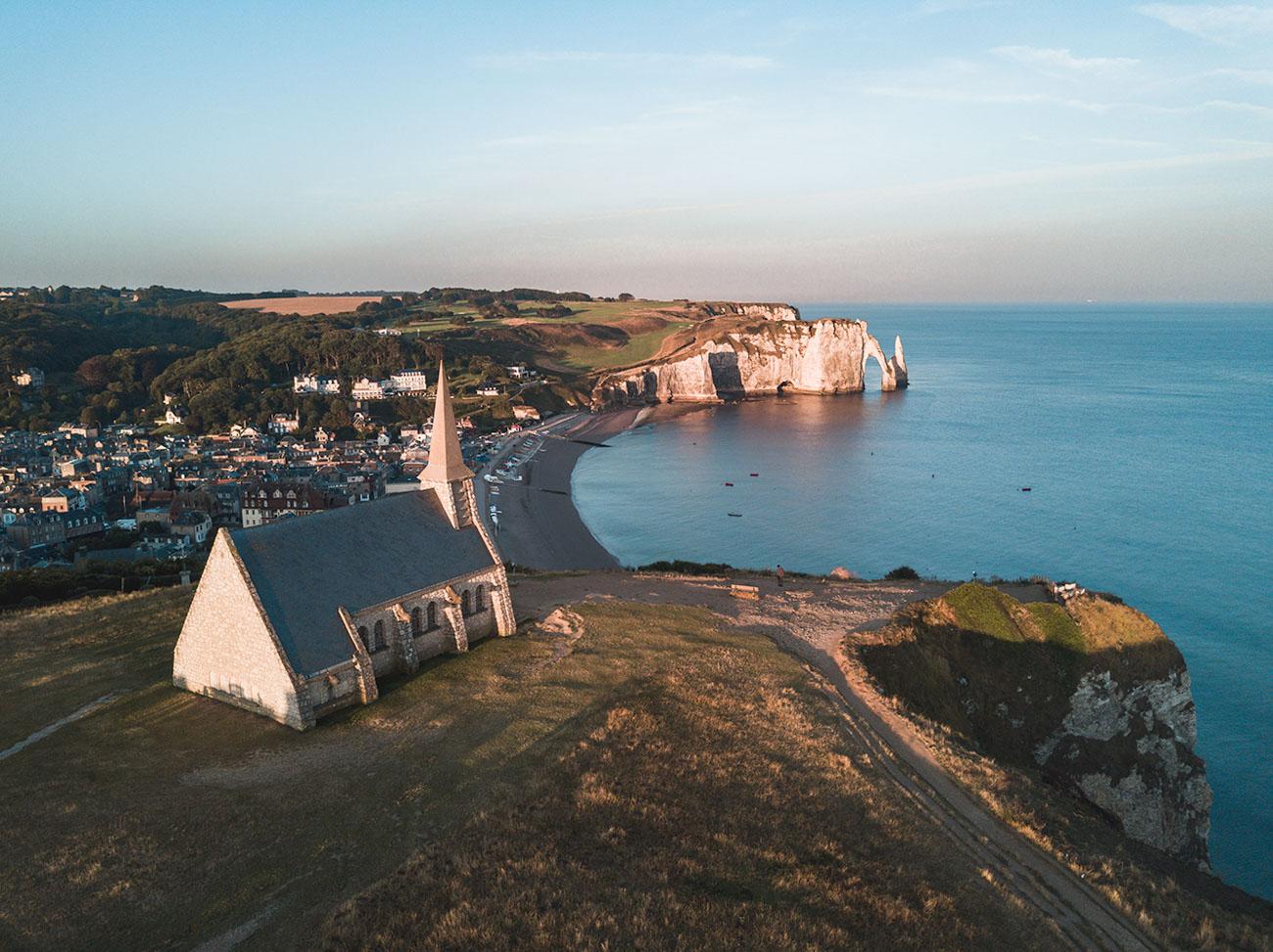 Normandia klify Etretat