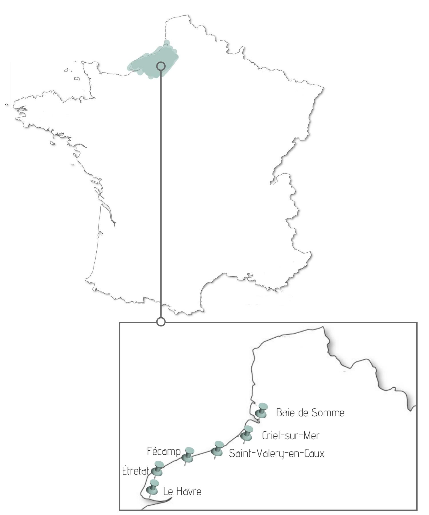Normandia mapa
