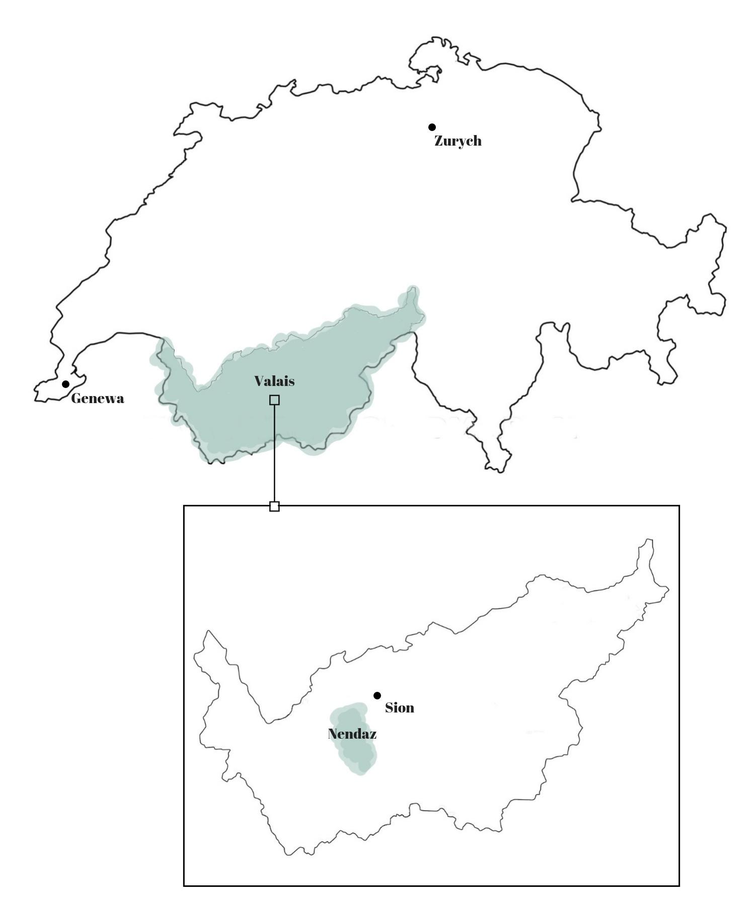 Nendaz mapa