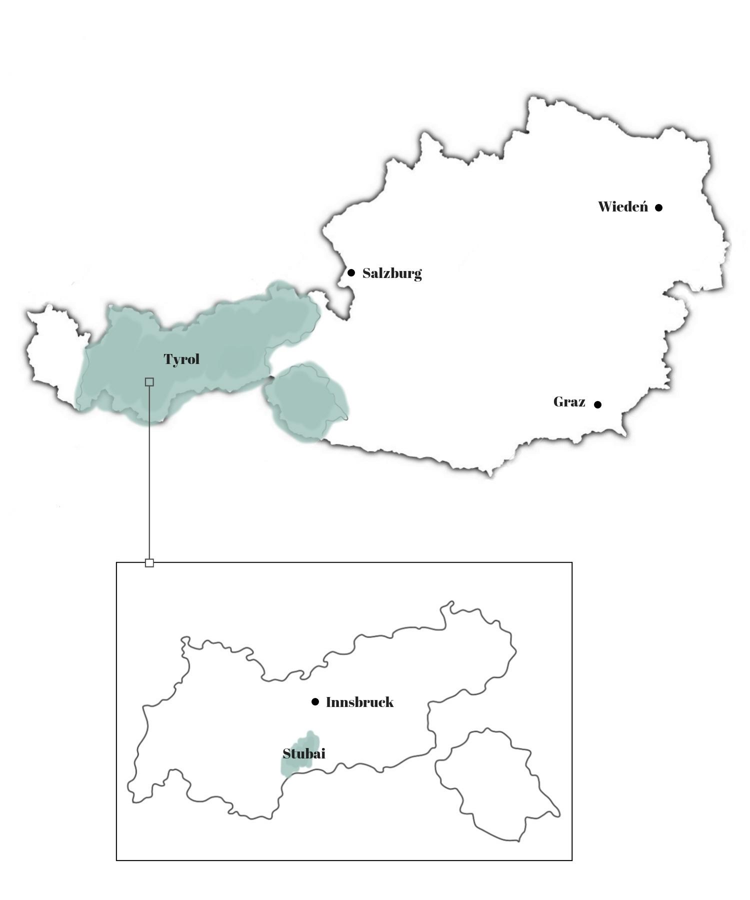 stubai mapa