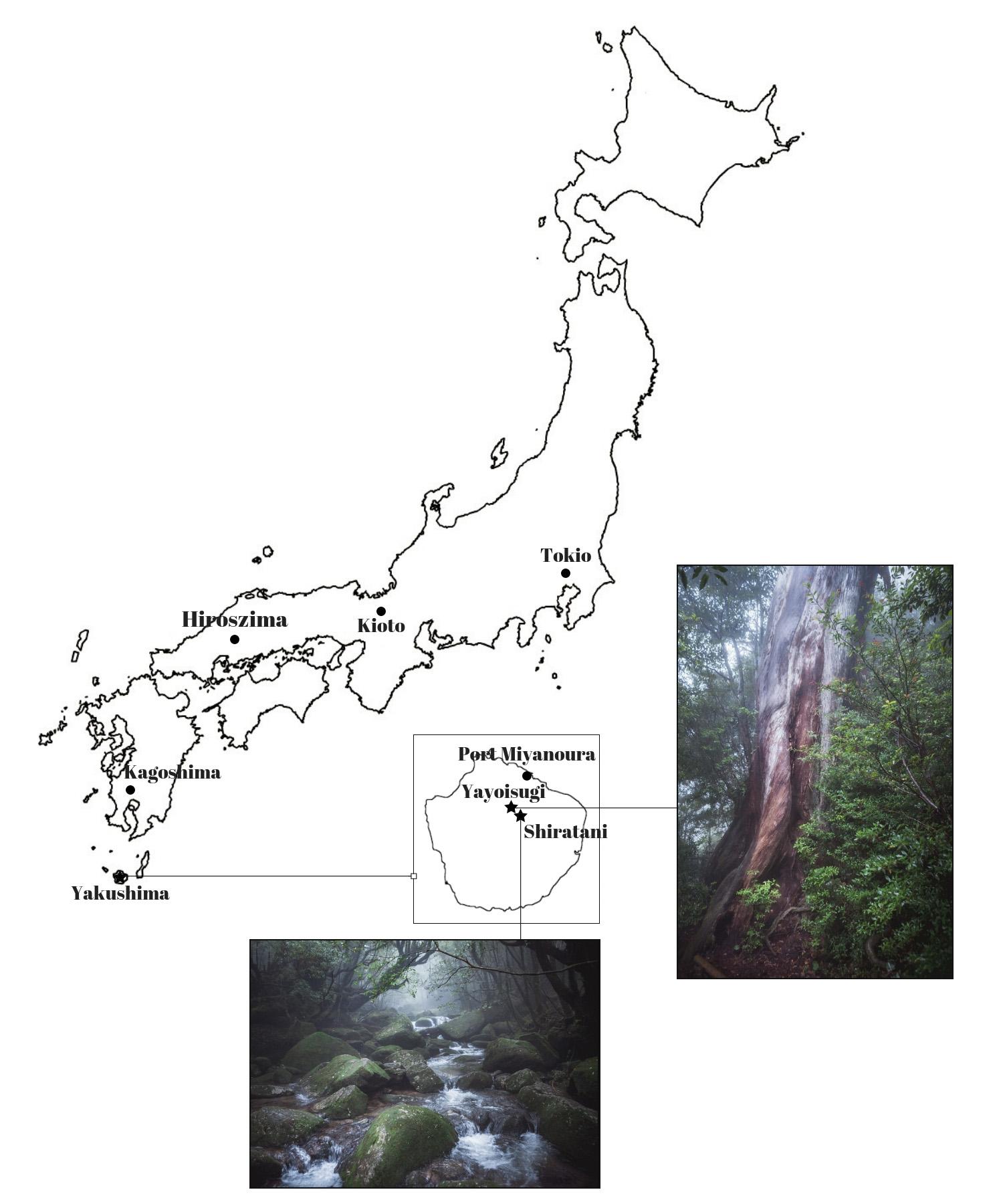 mapa yakushima