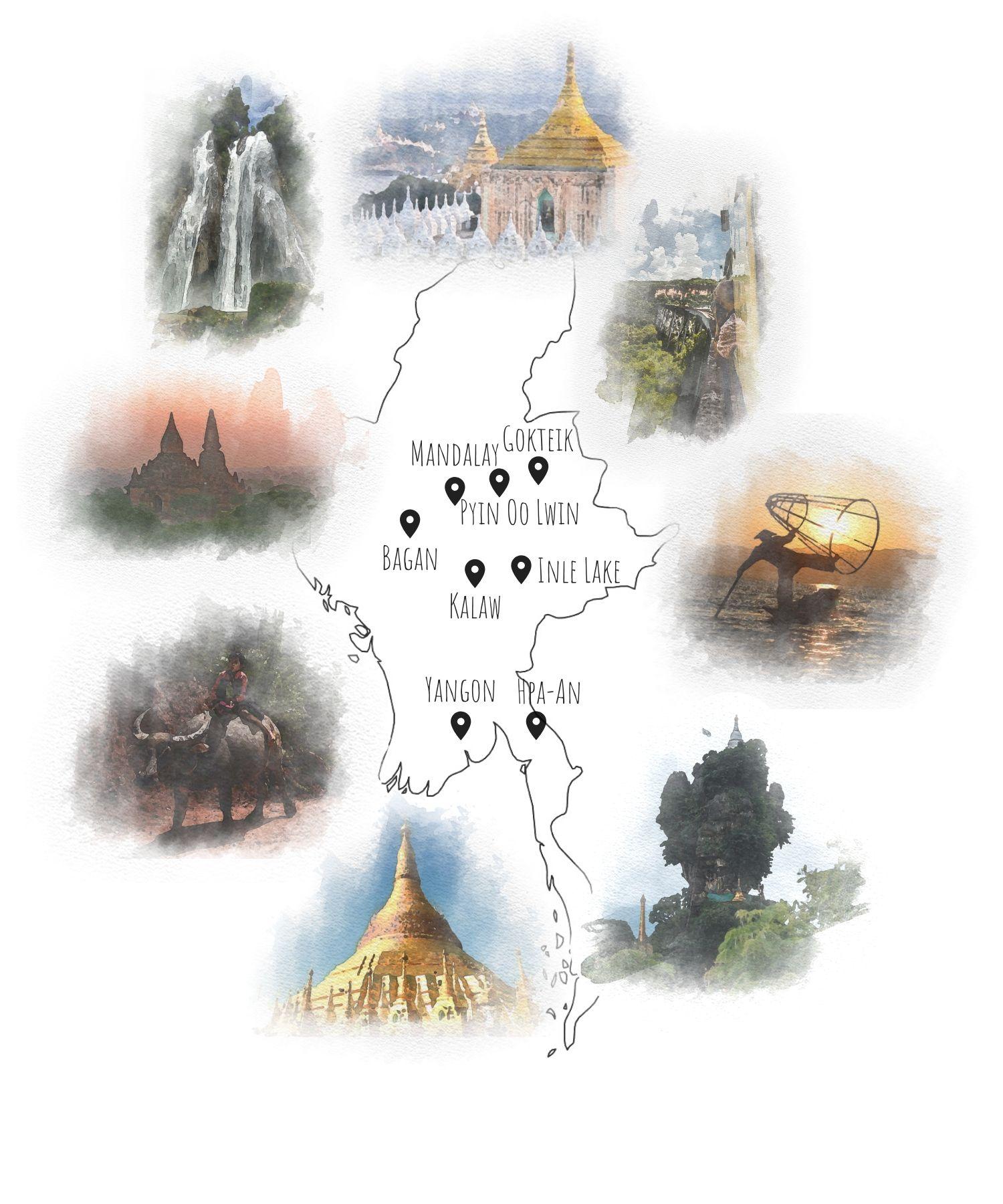 birma trasa zwiedzania